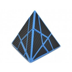 Pyraminx Lefun Ghost Cube Black Carbon Fibre Stickered
