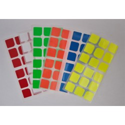 3x3x3 Stickers for 3x3  Speedcubes (2x 6-Pack)