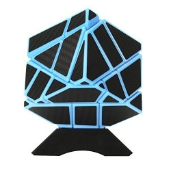 Fangcun Ghost 3x3 Blue with Black Carbon Fiber Stickers 3x3