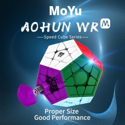 Megaminx Moyu Aohun WR, Magnetic Stickerless
